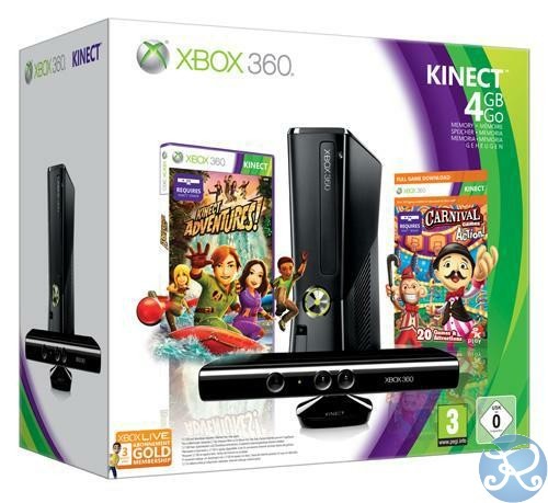 XBOX 360 4GB Kinect Holiday Value Bundle trasporti gratis