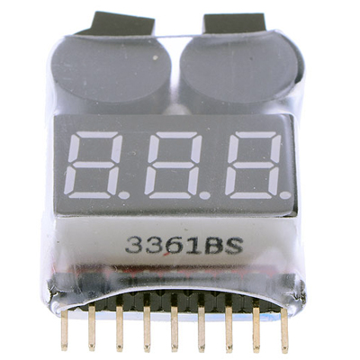 1-8S Battery Voltage Tester Low Voltage Buzzer Alarm